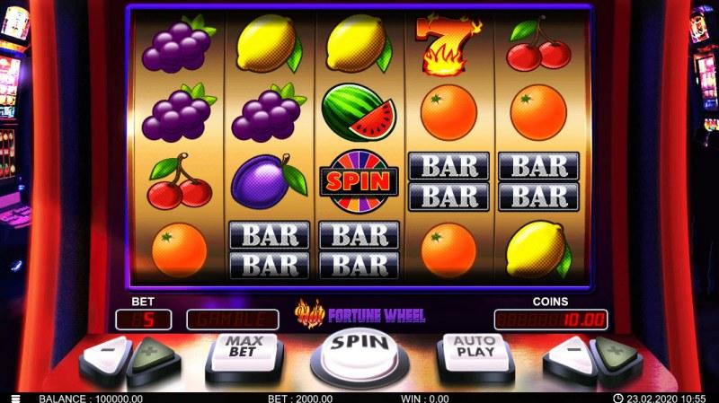 Hot Fortune Wheel :: Main Game Board