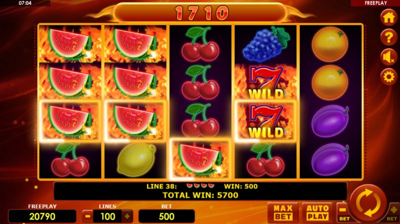 Hot Fruits 100 :: Multiple winning combinations