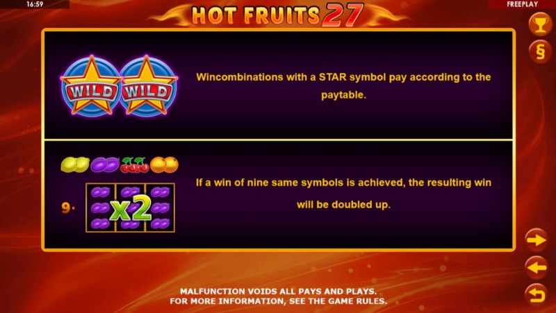 Hot Fruits 27 :: Feature Rules