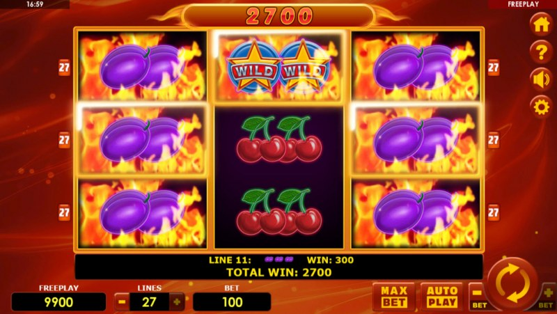 Hot Fruits 27 :: Multiple winning combinations leads to a big win