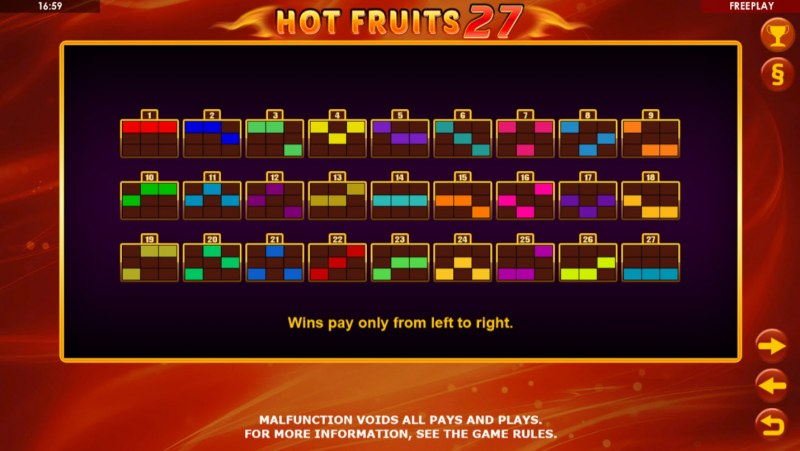 Hot Fruits 27 :: 27 Ways to Win