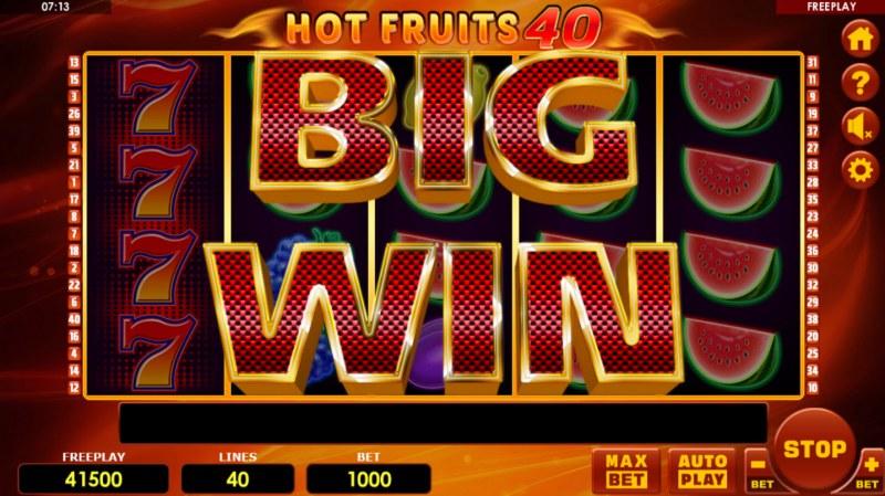 Hot Fruits 40 :: Big Win