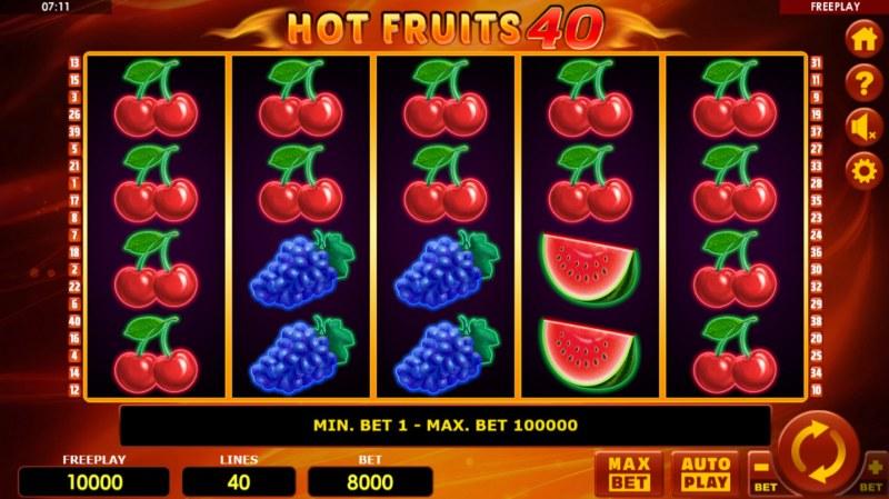 Hot Fruits 40 :: Main Game Board