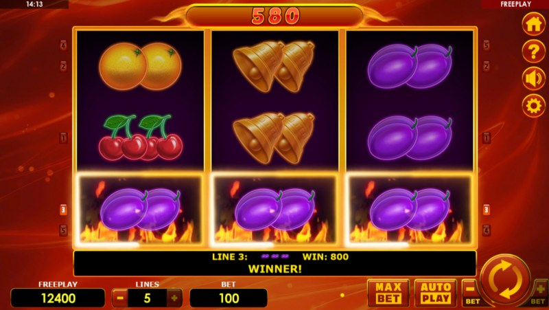 Hot Fruits Deluxe :: A winning 3 of a kind