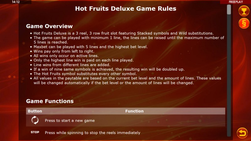 Hot Fruits Deluxe :: General Game Rules