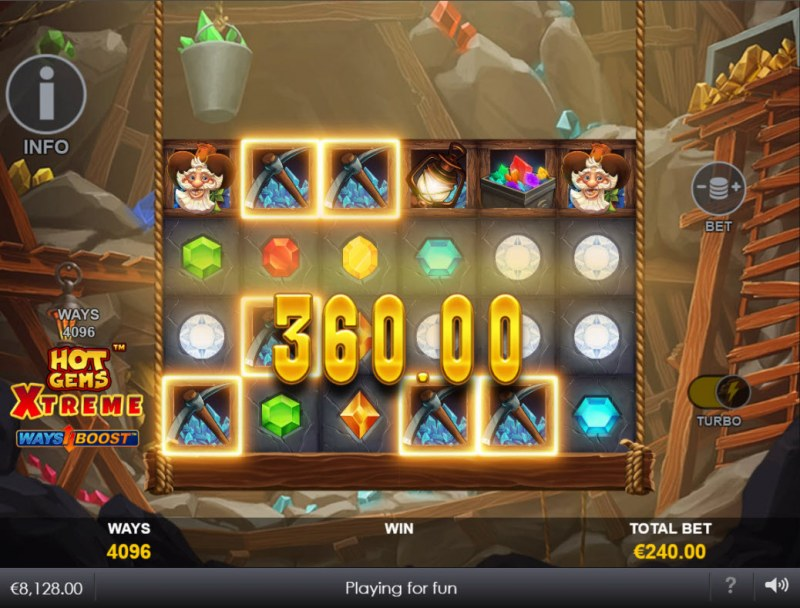 Hot Gems Xtreme :: Multiple winning combinations
