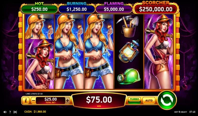 Hot & Heavy :: Multiple winning paylines