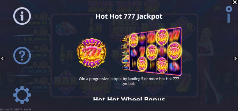 Hot Hot 777s :: Jackpot Rules