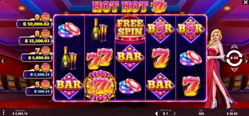 Hot Hot 777s :: Main Game Board