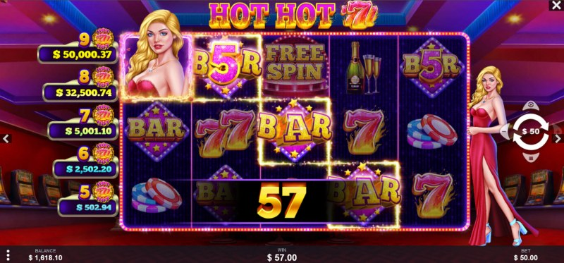 Hot Hot 777s :: A four of a kind win