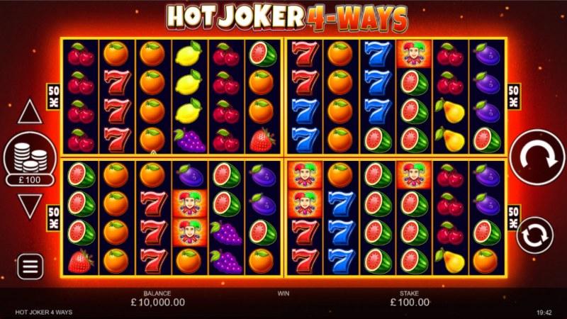 Hot Joker 4-Ways :: Main Game Board