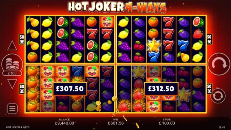 Hot Joker 4-Ways :: Multiple winning paylines