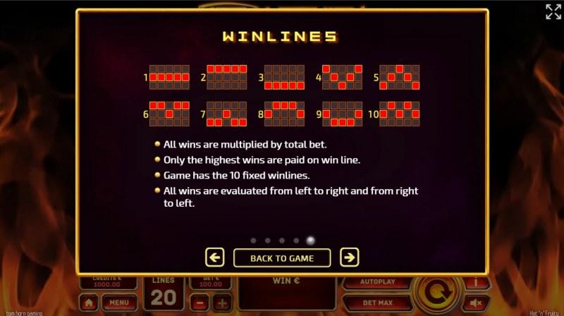 Hot 'n' Fruity :: Winlines