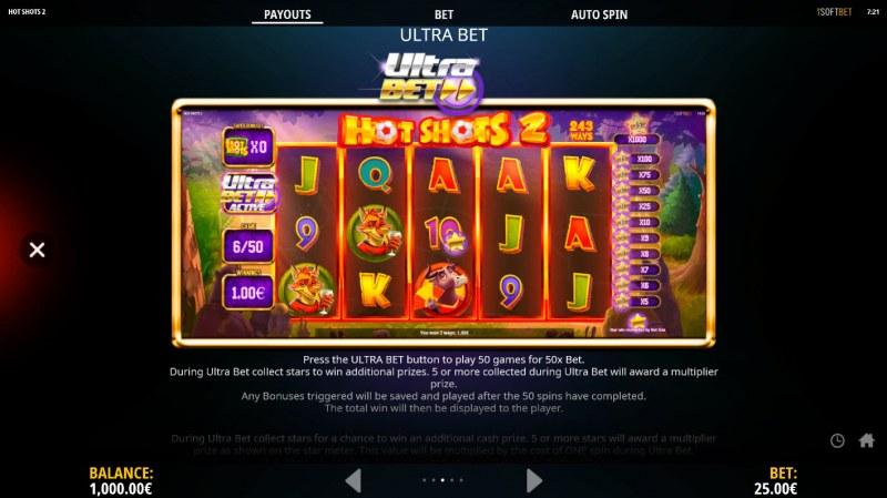 Hot Shots 2 :: Ultra Bet Feature