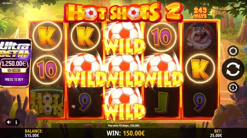 Hot Shots 2 :: Multiple winning paylines