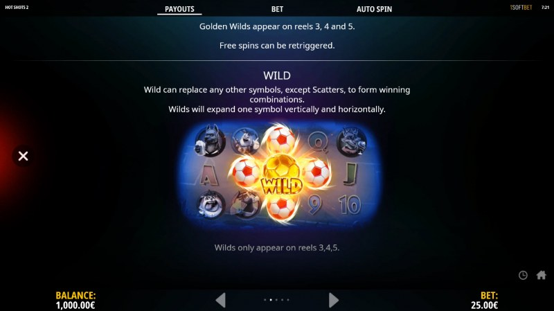 Hot Shots 2 :: Wild Symbols Rules