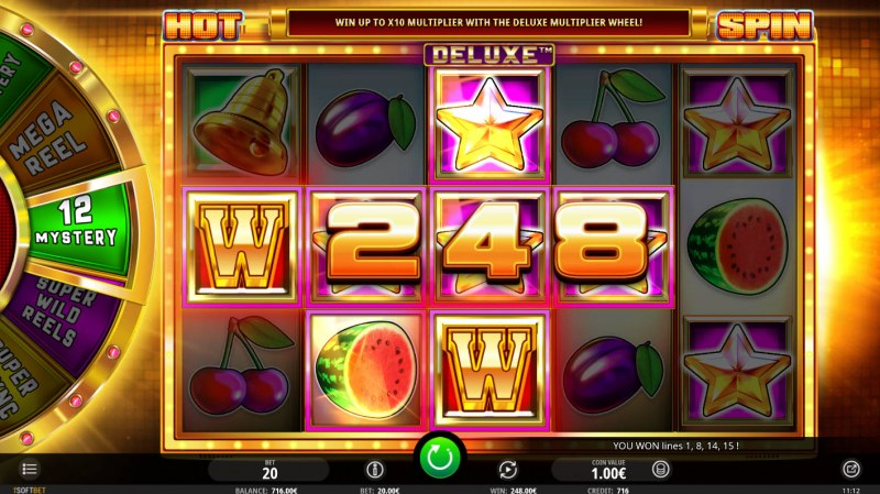 Hot Spin Deluxe :: Multiple winning paylines