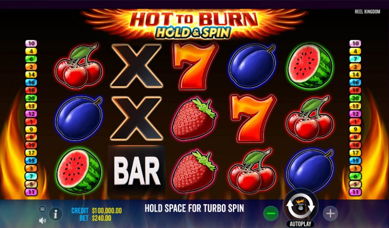 Hot to Burn Hold & Spin :: Main Game Board