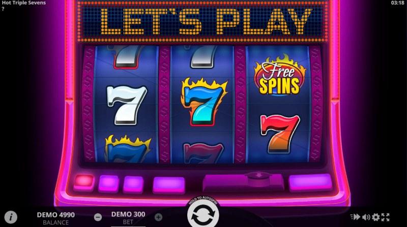 Hot Triple Sevens :: Main Game Board