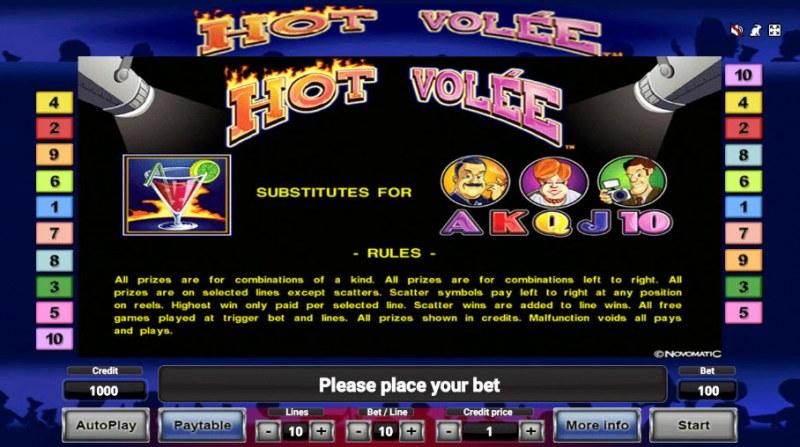 Hot Volee :: Wild Symbols Rules