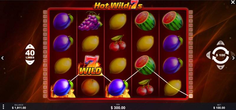 Hot Wild 7s :: Multiple winning paylines
