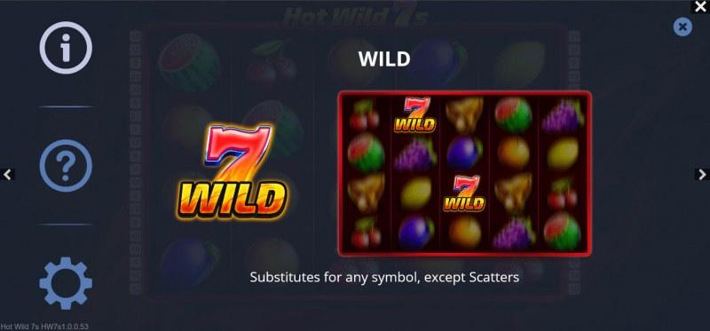 Hot Wild 7s :: Wild Symbol Rules