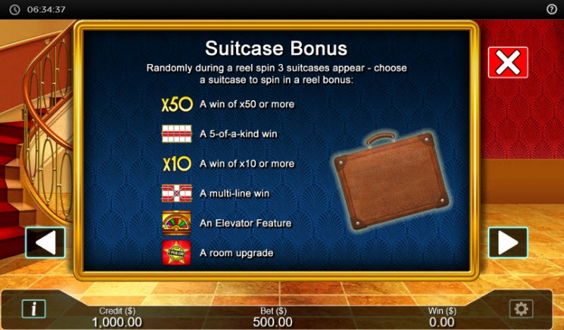 Hotel  dot Cash :: Bonus Game Rules