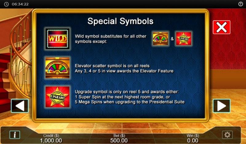 Hotel  dot Cash :: Special symbols