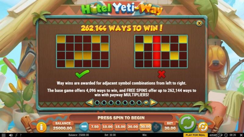 Hotel Yeti Way :: 262144 Ways to Win