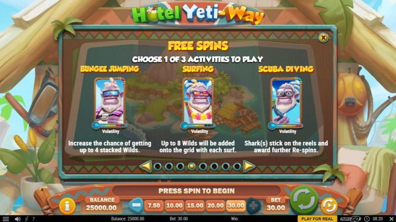 Hotel Yeti Way :: Free Spin Feature Rules