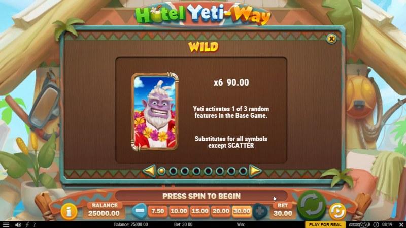 Hotel Yeti Way :: Wild Symbol Rules
