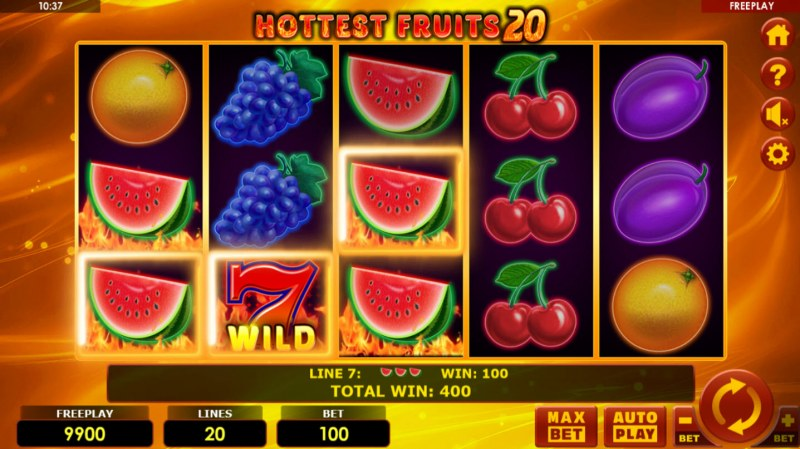 Hottest Fruits 20 :: Multiple winning paylines