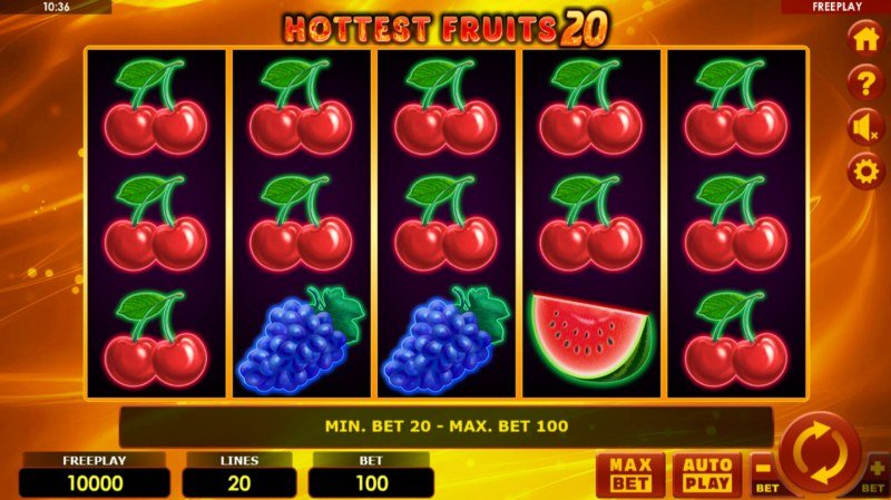 Play slots at Lapalingo: Lapalingo featuring the Video Slots Hottest Fruits 20 with a maximum payout of $100,000
