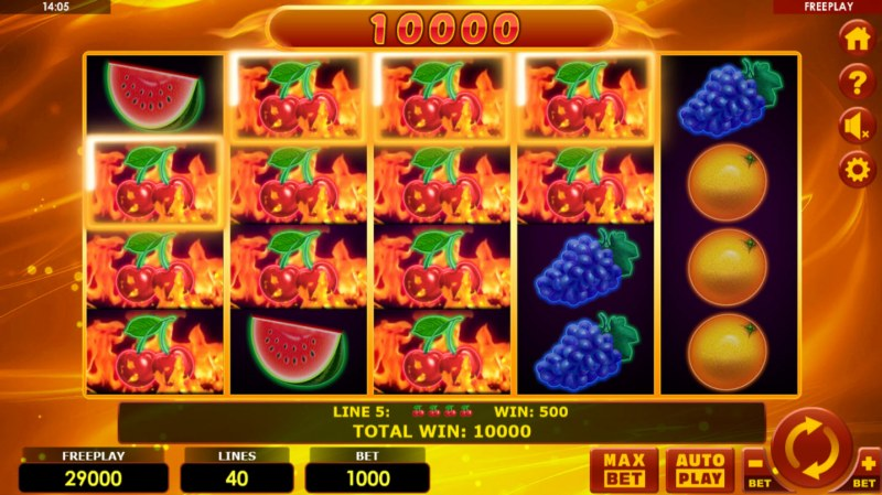 Hottest Fruits 40 :: Multiple winning cherry paylines