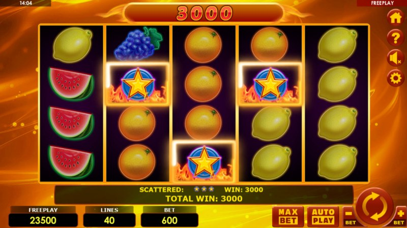 Hottest Fruits 40 :: Scatter Win