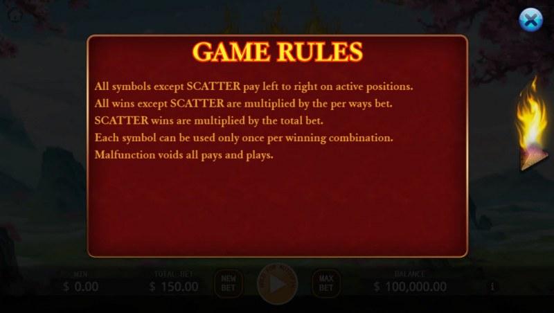 Hou Yi :: General Game Rules