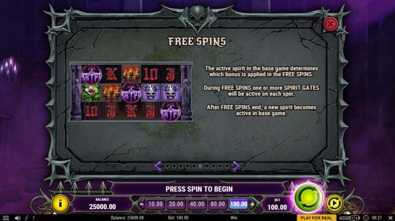 House of Doom 2 The Crypt :: Free Spin Feature Rules