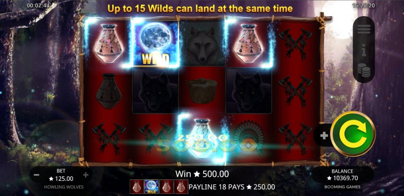Howling Wolves :: A four of a kind win