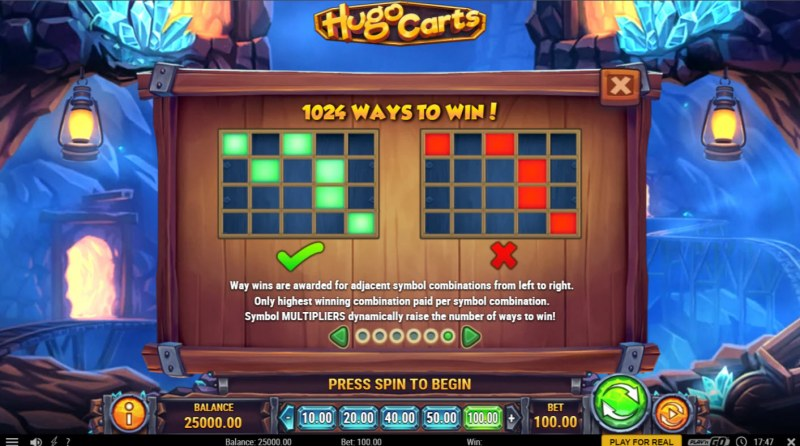 Hugo Carts :: 1024 Ways to Win