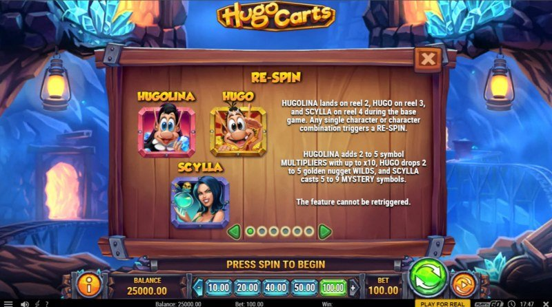 Hugo Carts :: Re-Spin Feature