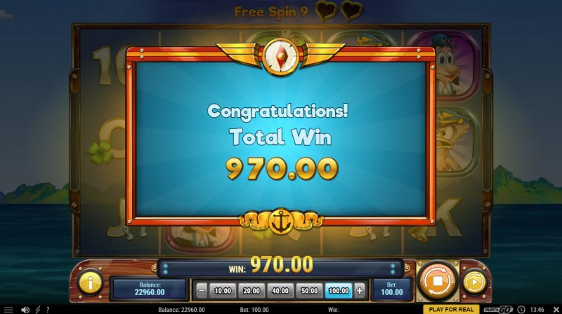 Hugo's Adventure :: Total free spins payout