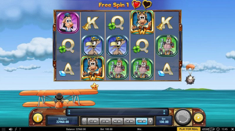 Hugo's Adventure :: Free Spins Game Board