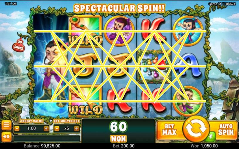 Huluwa :: Multiple winning paylines