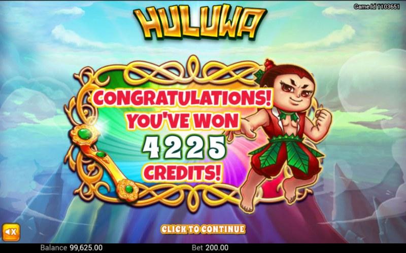 Huluwa :: Total Free Spins Payout