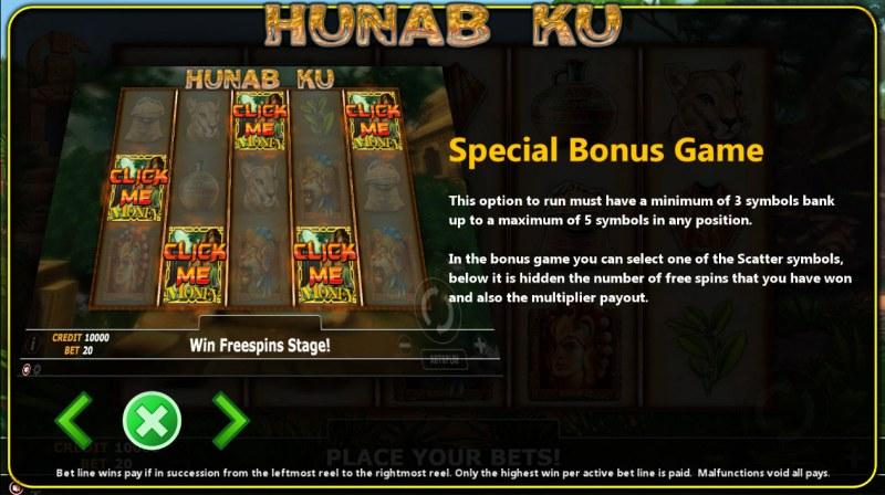 Hunab Ku :: Bonus Game Rules