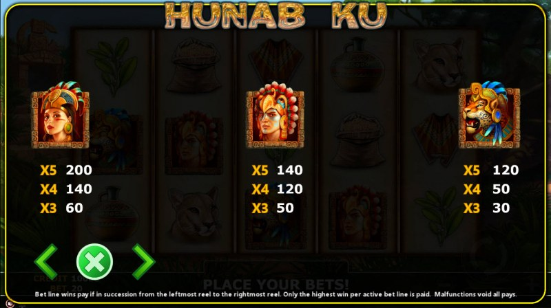 Hunab Ku :: Paytable - High Value Symbols