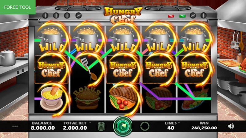 Hungry Chef :: Multiple winning paylines