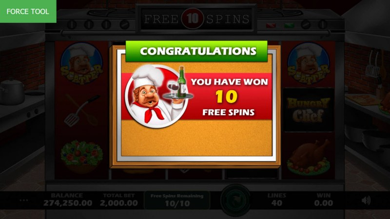 Hungry Chef :: 10 Free Spins Awarded