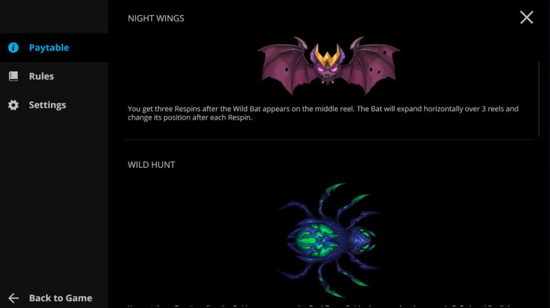 Hungry Night :: Wild Symbol Rules
