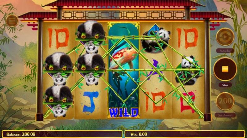 Hungry Pandas :: Multiple winning paylines